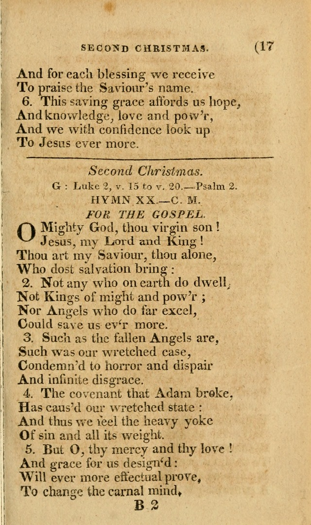 Church Hymn Book: consisting of newly composed hymns with the addition of hymns and psalms, from other authors, carefully adapted for the use of public worship, and many other occasions (1st ed.) page 36