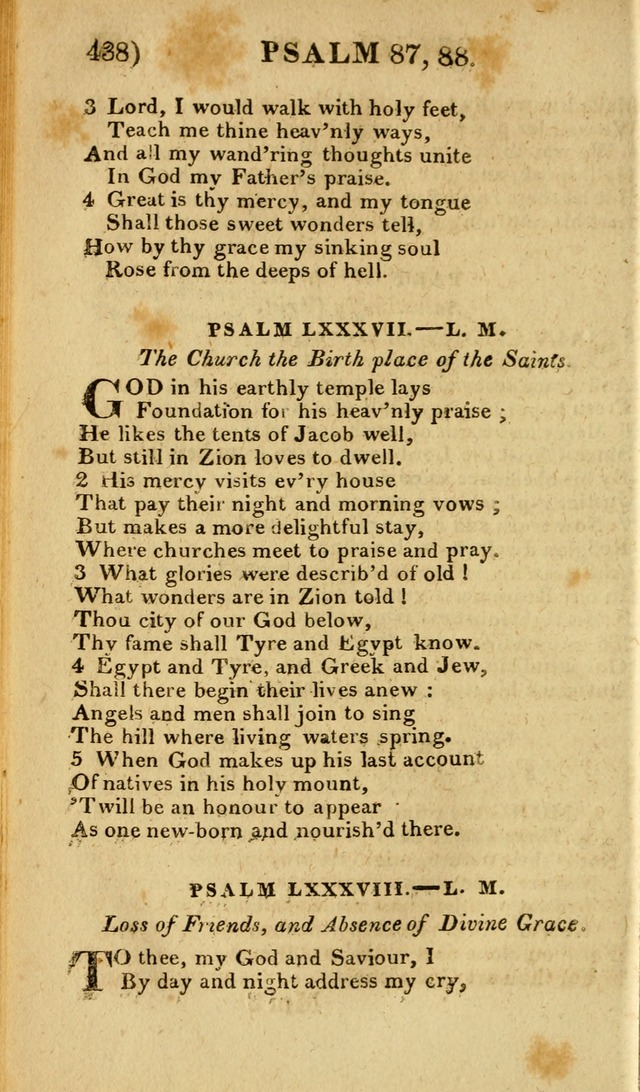 Church Hymn Book: consisting of newly composed hymns with the addition of hymns and psalms, from other authors, carefully adapted for the use of public worship, and many other occasions (1st ed.) page 457