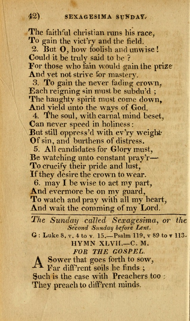 Church Hymn Book: consisting of newly composed hymns with the addition of hymns and psalms, from other authors, carefully adapted for the use of public worship, and many other occasions (1st ed.) page 61