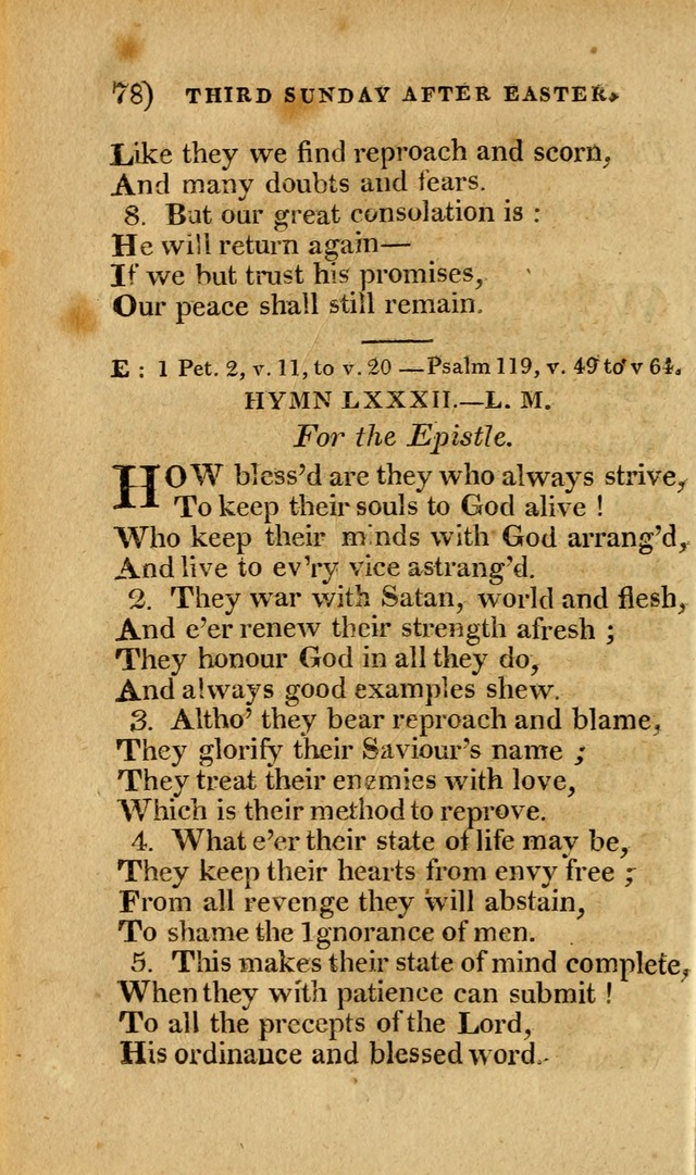 Church Hymn Book: consisting of newly composed hymns with the addition of hymns and psalms, from other authors, carefully adapted for the use of public worship, and many other occasions (1st ed.) page 97