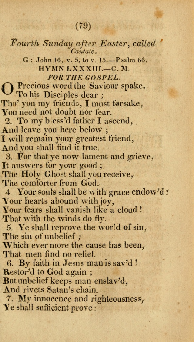 Church Hymn Book: consisting of newly composed hymns with the addition of hymns and psalms, from other authors, carefully adapted for the use of public worship, and many other occasions (1st ed.) page 98