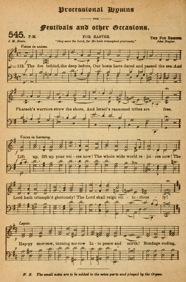 The Church Hymnal with Canticles page 485