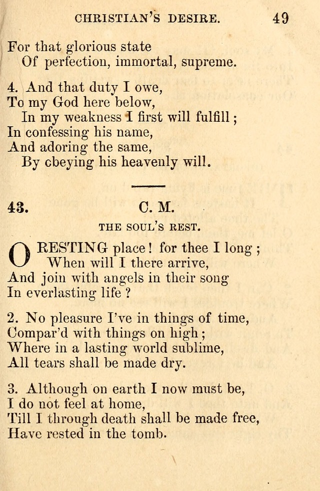 A Collection of Hymns: designed for the use of the Church of Christ page 49
