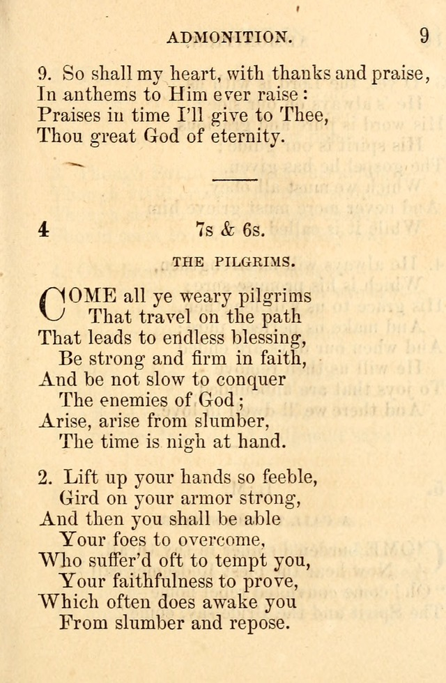 A Collection of Hymns: designed for the use of the Church of Christ page 9