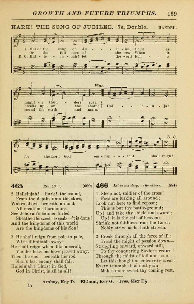 The Christian Hymnal: a choice collection of hymns and tunes for congregational and social worship page 169