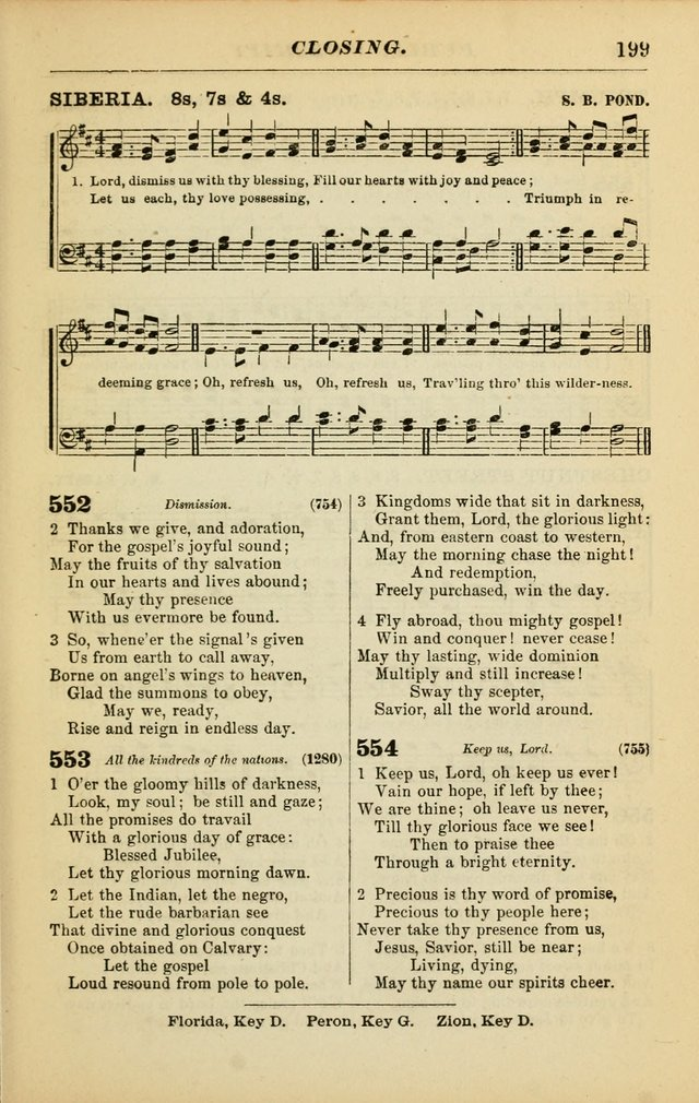 The Christian Hymnal: a choice collection of hymns and tunes for congregational and social worship page 199