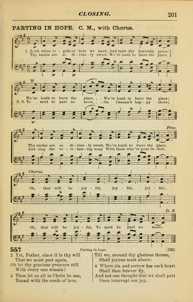 The Christian Hymnal: a choice collection of hymns and tunes for congregational and social worship page 201