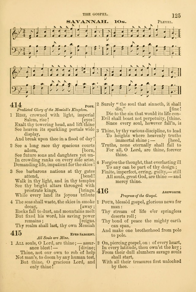 Church Harmonies: a collection of hymns and tunes for the use of Congregations page 125