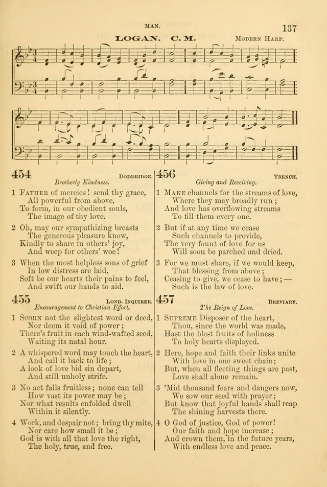 Church Harmonies: a collection of hymns and tunes for the use of Congregations page 137