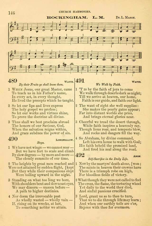 Church Harmonies: a collection of hymns and tunes for the use of Congregations page 146