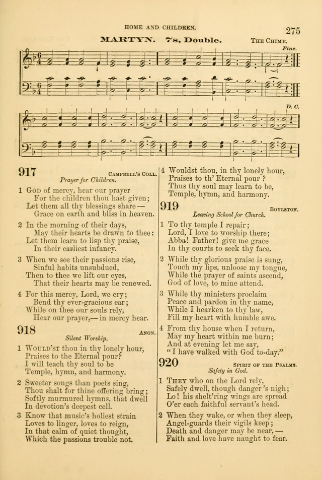 Church Harmonies: a collection of hymns and tunes for the use of Congregations page 275