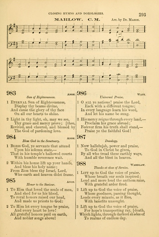 Church Harmonies: a collection of hymns and tunes for the use of Congregations page 293