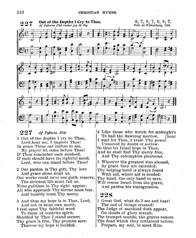 Christian Hymns: for church, school and home: with music page 108