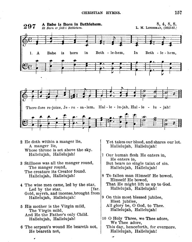 Christian Hymns: for church, school and home: with music page 155