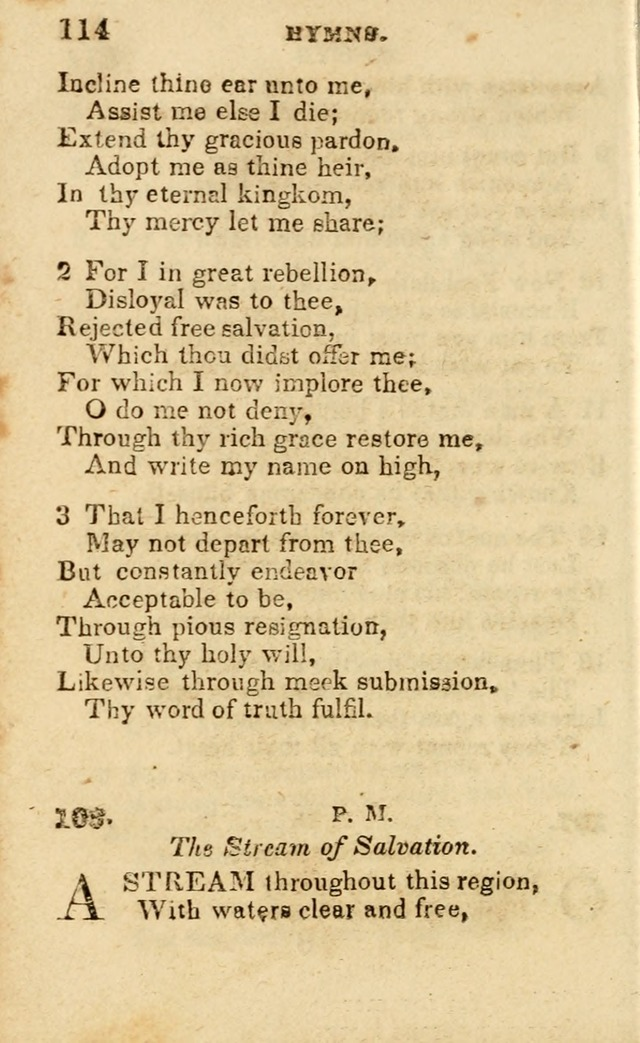 A Collection of Hymns, Designed for the Use of the Church of Christ page 115