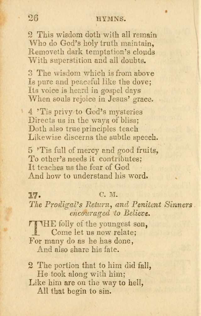 A Collection of Hymns, Designed for the Use of the Church of Christ page 27