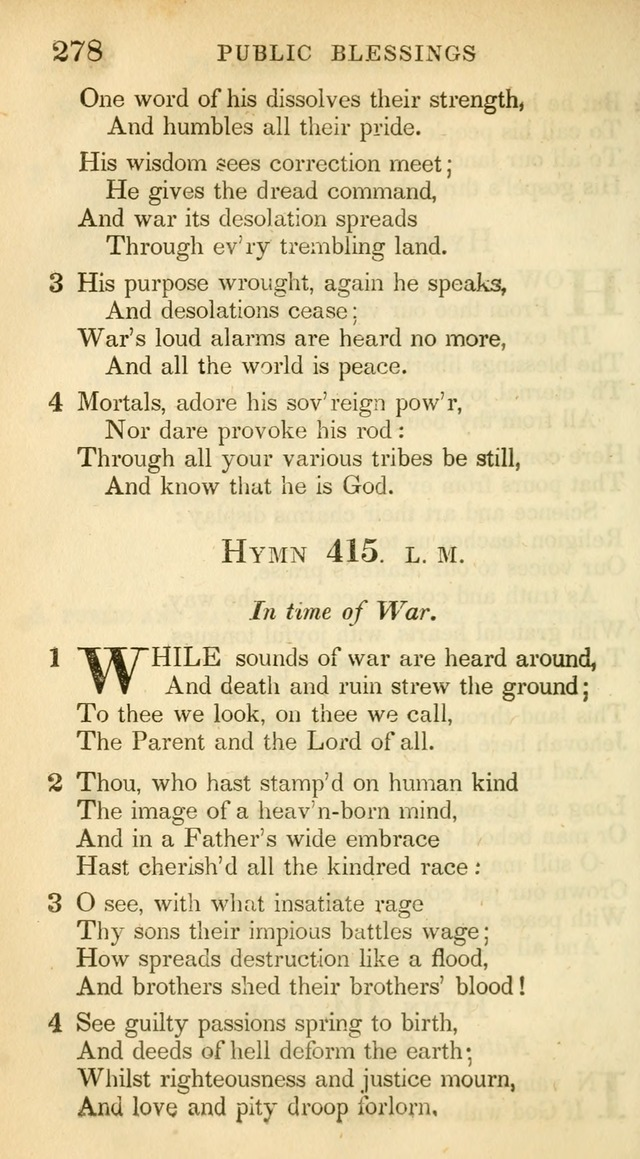 A Collection of Hymns and a Liturgy: for the use of Evangelical Lutheran Churches, to which are added prayers for families and individuals (New and Enl. Stereotype Ed.) page 278