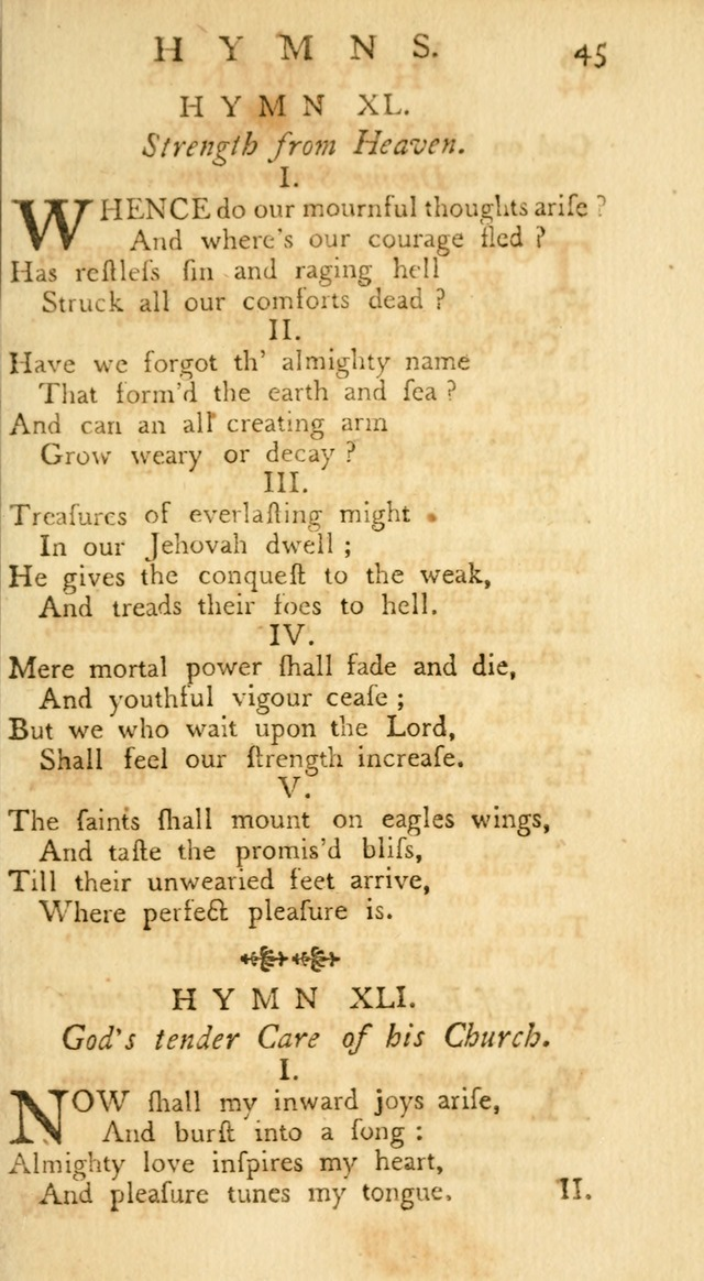 A Collection of Hymns, More Particularly Designed for the Use of the  West Society in Boston. (2nd ed. with Additions) page 45