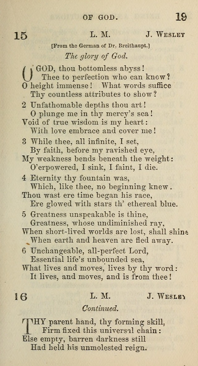 A Collection of Hymns for Public, Social, and Domestic Worship page 19