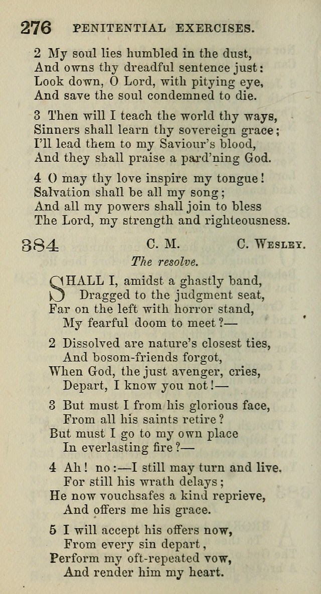 A Collection of Hymns for Public, Social, and Domestic Worship page 278