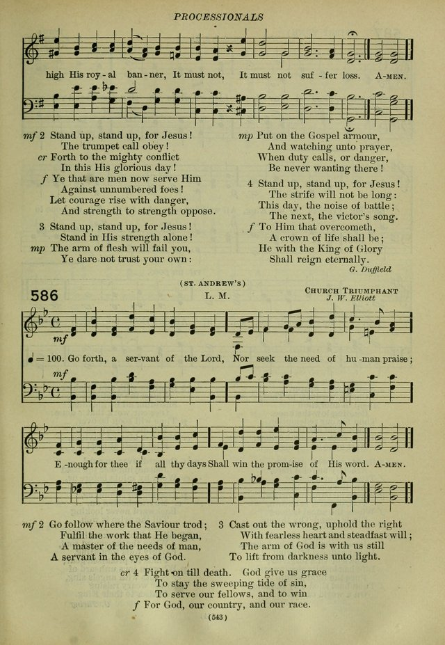 The Church Hymnal Revised: containing hymns approved and set forth by the general convetions of 1892 and 1916; together with hymns for the use of guilds and brotherhoods, and for special occastions page 544