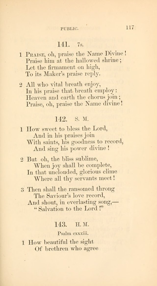 A Collection of Hymns: Supplementary to the Psalms and Hymns of Dr. Watts page 124