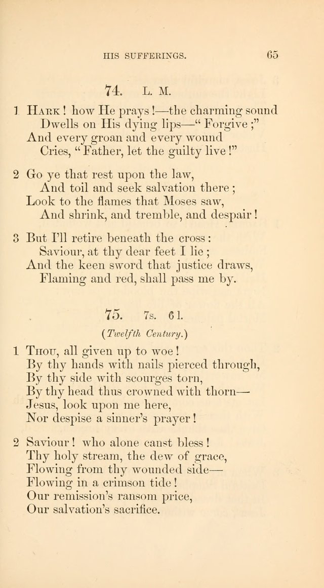 A Collection of Hymns: Supplementary to the Psalms and Hymns of Dr. Watts page 72