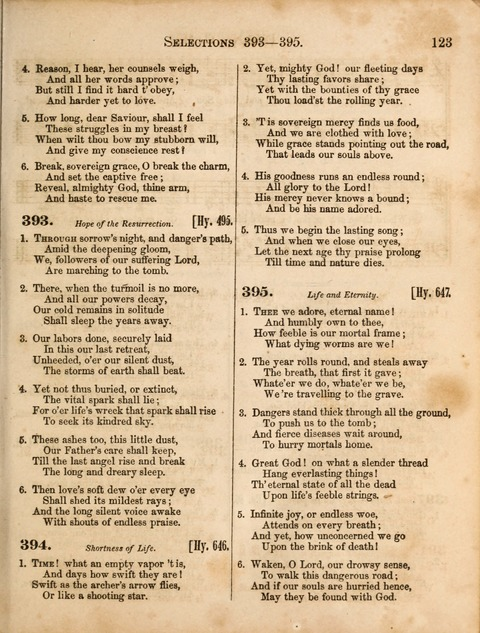 Congregational Hymn and Tune Book; containing the Psalms and Hymns of the General Association of Connecticut, adapted to Suitable Tunes page 123