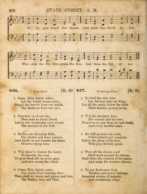 Congregational Hymn and Tune Book; containing the Psalms and Hymns of the General Association of Connecticut, adapted to Suitable Tunes page 258