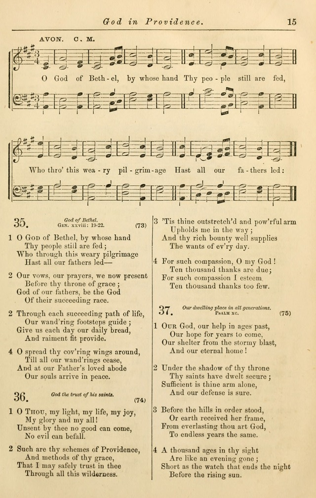 Christian Hymn and Tune Book, for use in Churches, and for Social and Family Devotions page 22