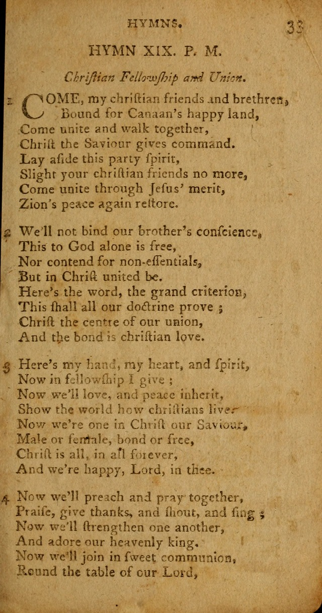 A Collection of Hymns for the Use of Christians. (4th ed.) page 33