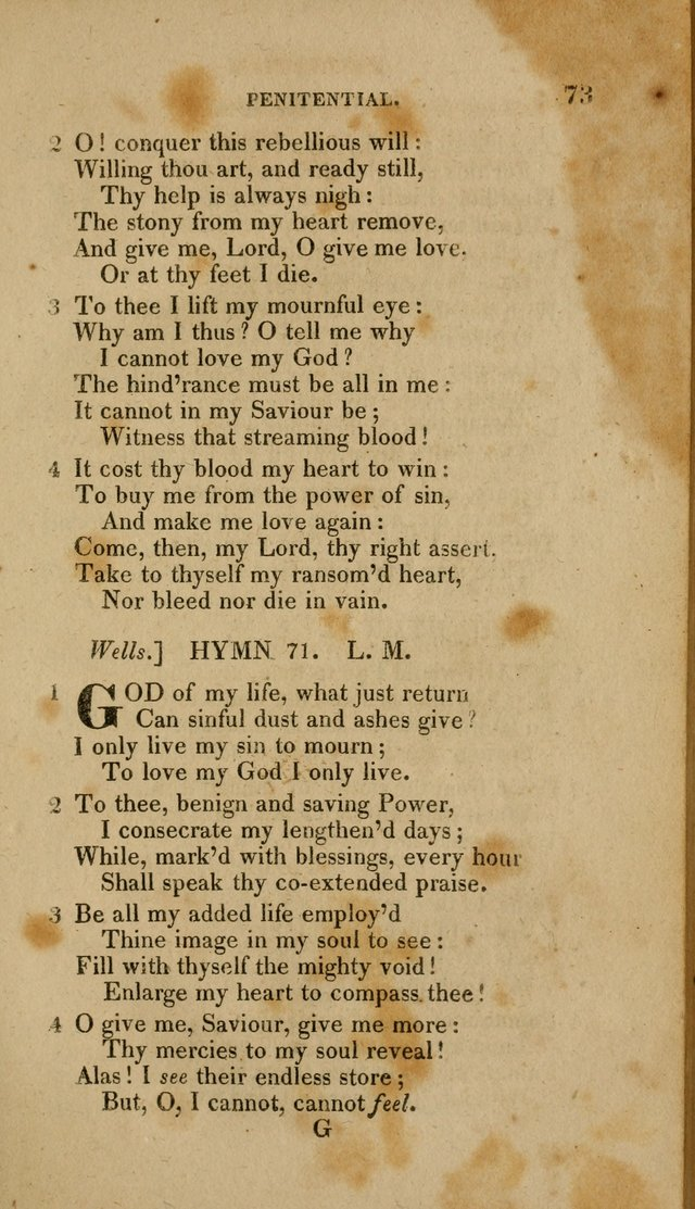 A Collection of Hymns for the Use of the Methodist Episcopal Church: Principally from the Collection of the Rev. John Wesley. M. A. page 78