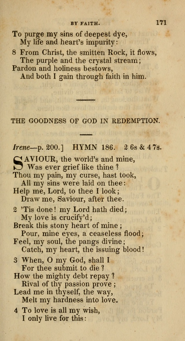 A Collection of Hymns for the Use of the Methodist Episcopal Church: principally from the collection of  Rev. John Wesley, M. A., late fellow of Lincoln College, Oxford; with... (Rev. & corr.) page 171