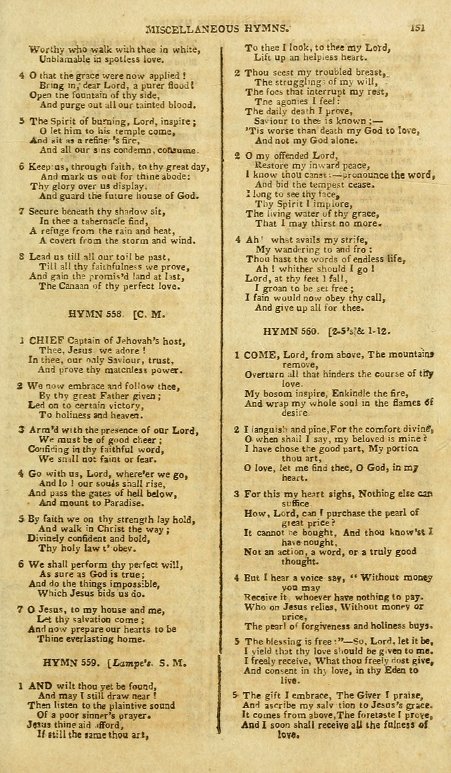 A Collection of Hymns: for the use of the people called Methodists; in miniature page 155