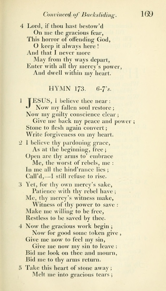 A Collection of Hymns, for the Use of the People Called Methodists, with a Supplement page 171