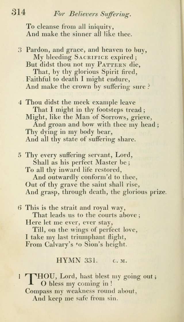 A Collection of Hymns, for the Use of the People Called Methodists, with a Supplement page 316