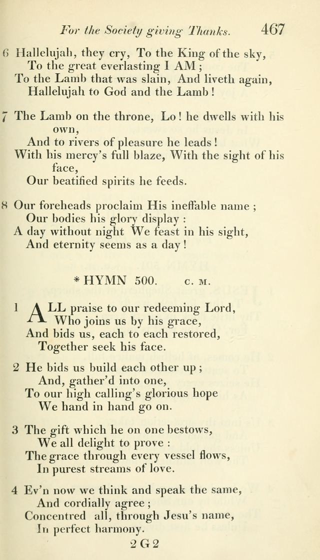 A Collection of Hymns, for the Use of the People Called Methodists, with a Supplement page 469