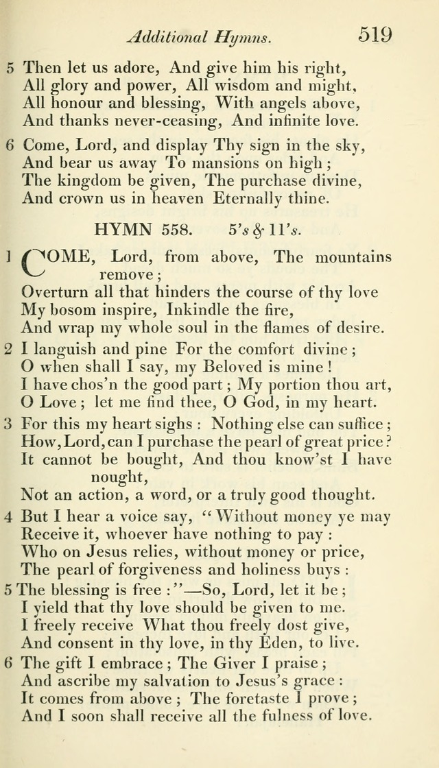 A Collection of Hymns, for the Use of the People Called Methodists, with a Supplement page 521