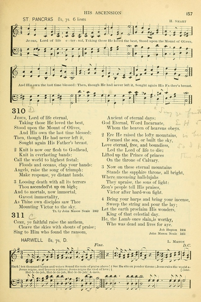 The Church Hymnary: a collection of hymns and tunes for public worship page 157