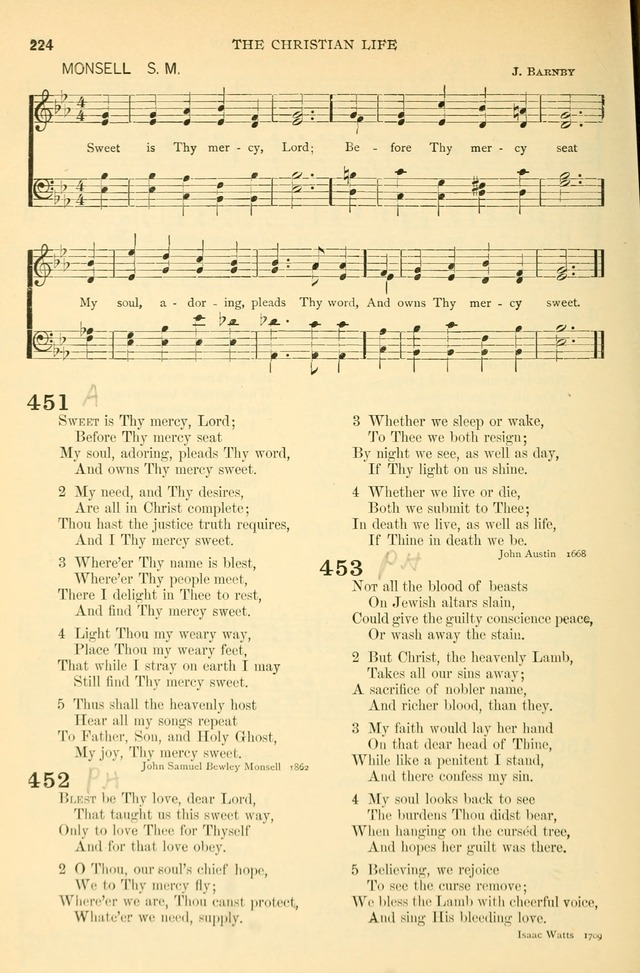 The Church Hymnary: a collection of hymns and tunes for public worship page 224
