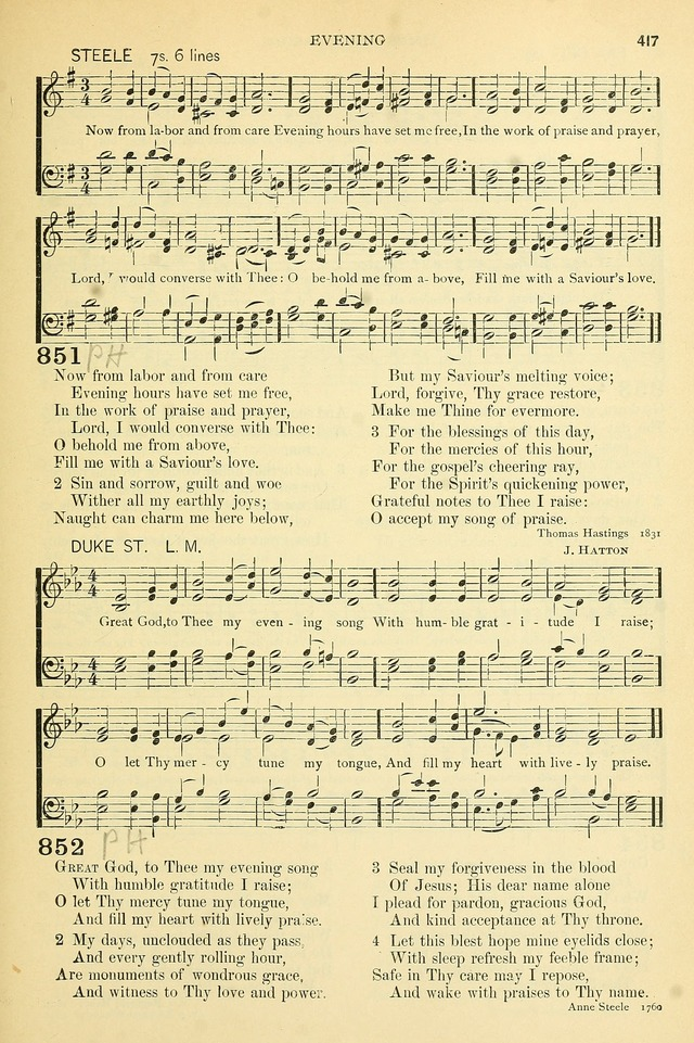 The Church Hymnary: a collection of hymns and tunes for public worship page 417