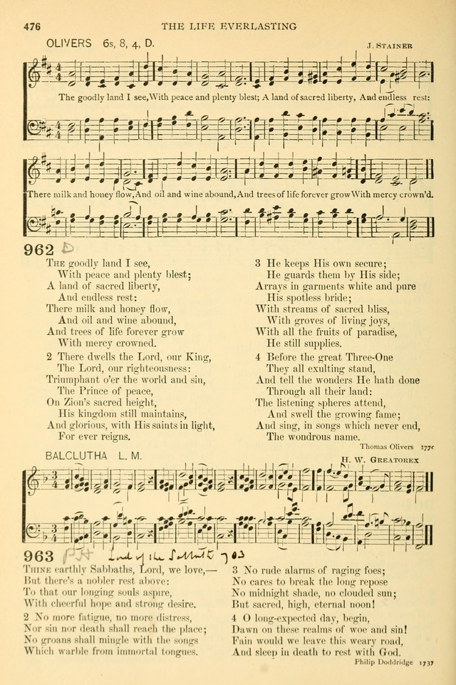 The Church Hymnary: a collection of hymns and tunes for public worship page 476