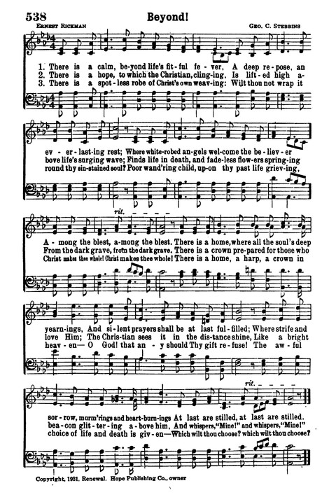 Choice Hymns of the Faith page 462
