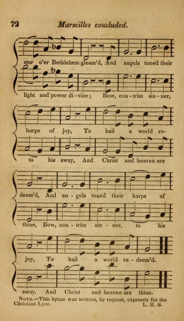 The Christian Lyre: Vol I (8th ed. rev.) page 72