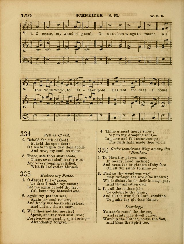 Cottage Melodies; a hymn and tune book, for prayer and social meetings and the home circle page 157