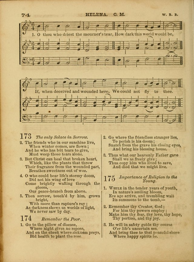 Cottage Melodies; a hymn and tune book, for prayer and social meetings and the home circle page 81