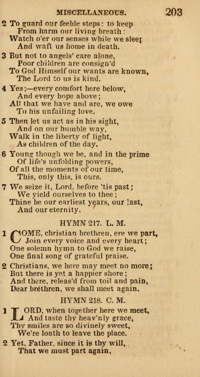 The Camp-Meeting Chorister: or, a collection of hymns and spiritual songs, for the pious of all denominations. To be sung at camp meetings, during revivals of religion, and on other occasions page 205