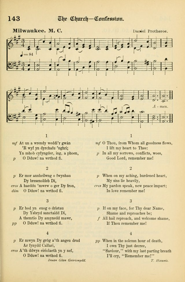Cân a Mawl: llyfr hymna a thonau Methodistiaid Calfinaidd Unol Dalaethau yr America=Song and Praise: the hymnal of the Calvinistic Methodist Church of the United States of America page 145