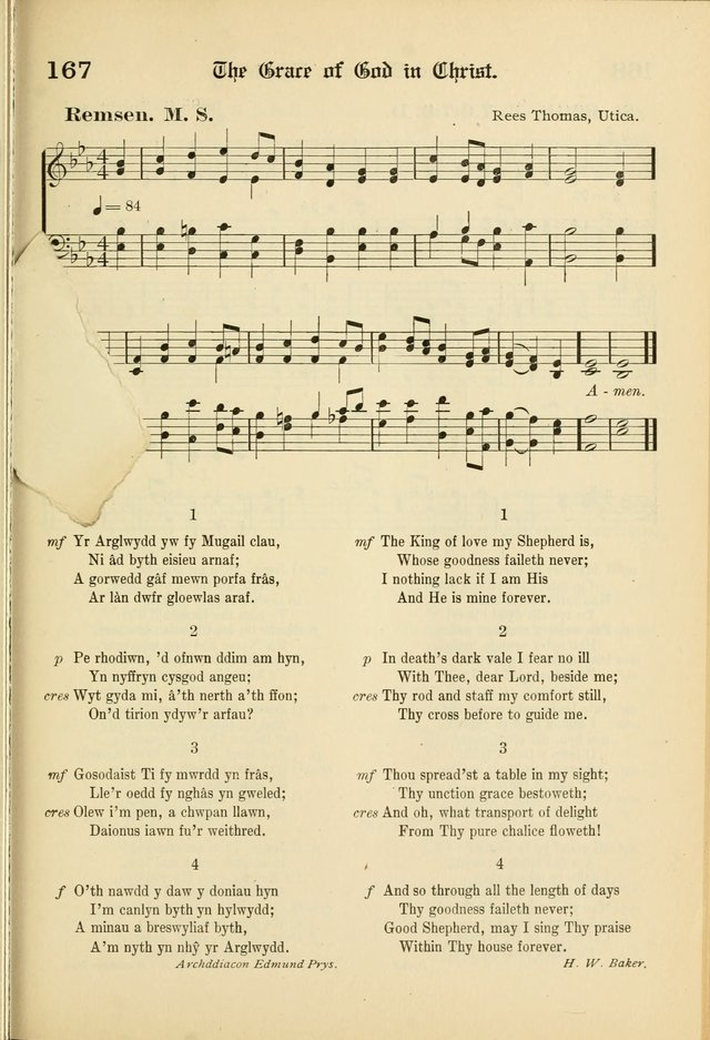 Cân a Mawl: llyfr hymna a thonau Methodistiaid Calfinaidd Unol Dalaethau yr America=Song and Praise: the hymnal of the Calvinistic Methodist Church of the United States of America page 169