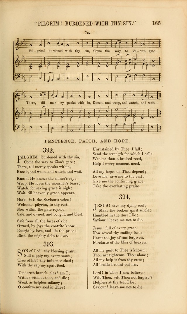 Church Pastorals, hymns and tunes for public and social worship page 165